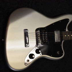 2010 Fender Blacktop Jaguar Silver